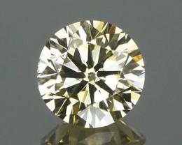 *$NR* Natural Yellow Champagne Diamond 0.52Ct.