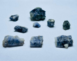 Amazing Natural color gemmy quality blue Sapphire crystals Rough50CtsSAC