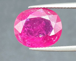 6.95 Cts Rubelite Tourmaline Hot Pink Colour