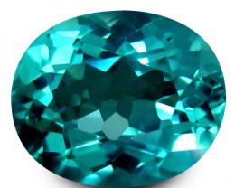 1.75Cts Genuine Fantastic Paraiba Green Color Apatite Oval Cut Loose Gem