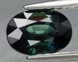 1.25 ct Natural Earth Mined Unheated Green Sapphire, Nigeria