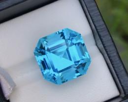Top Asscher Cut 22.55Ct Sky Blue Color Natural Topaz