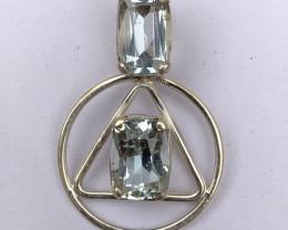 ~NO RESERVE~30.65 Carats Natural Kunzite 925 Silver Pendant