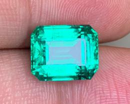 GIL Certified Top 5.18 Carats Panjshir Emerald Gemstone