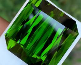 Spectacular Forest Green 138.5 Carats Natural Tourmaline Gemstone