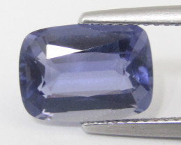 3.90Cts Amazing Natural Unheated Iolite Cushion Cut  Loose Gemstone REF VID