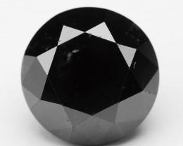 Diamond 1.31 Cts Natural Fancy Black Color