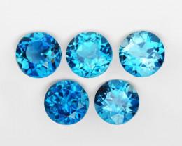 London Topaz 5.37 Cts 5Pcs London Blue Natural Gemstones