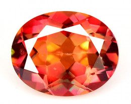 Mystic Topaz 2.35 Cts Rare Fancy Orange Red Color Natural Gemstone