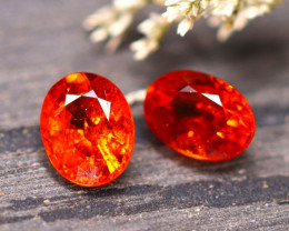 Spessartite Garnet 2.70Ct 2Pcs Natural Orange Spessartite Garnet E1905/B34