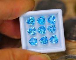 8.57ct Natural Sky Blue Topaz Trillion Cut Lot GW9886