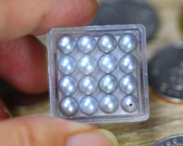 19.02Ct Natural Fresh Water Pearl Cultured Drill Lot GW9890