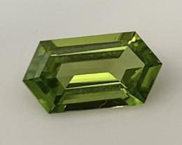 Lovely Green Elongated Hexagonal Cut Peridot - USA  KR386