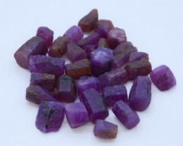 130.20 CT Top Quality Ruby Crystals ~ Madagascar tz