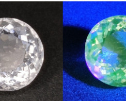 1.80 Cts Rare Top Color Change Fluorescent Hyalite Opal $2000