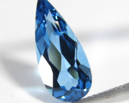 5.44Cts Sparkling Natural Swiss Blue Topaz Pear Shape Loose Gemstone