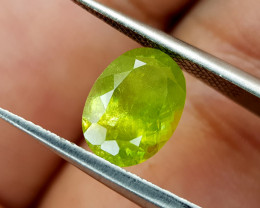 2.25Crt Green Sphene  Color Change Natural Gemstones JI79