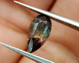1.15Crt Rare Axinite bi color Natural Gemstones JI79