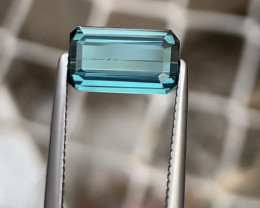 1.30 Carats Natural Blue Tourmaline Cut Stone from Afghanistan
