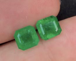 Emerald Pair 4.10Ct Natural Zambian Emerald