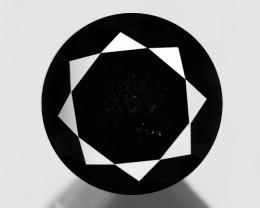 Black Diamond 1.46 Cts Natural Fancy 100% Black Loose