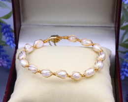 54.05Ct Baroque Freshwater Pearl Beads Bracelet A1708