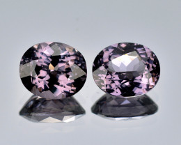 Burma Spinel 1.31 Cts 2Pcs Clean Unheated Purple Color Natural Gemstone - P