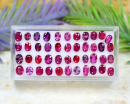 Red Ruby 11.22Ct Oval Cut Siamese Pigeon Blood Red Ruby Lot B1719