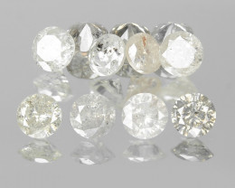 Untreated Diamonds 0.22 Cts 11 Pcs Fancy Grey Color Natural