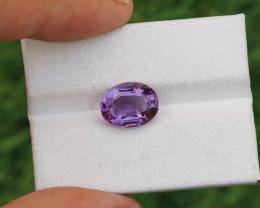 3.290 CTs Natural & Unheated~ CIGTL Certified Purple Amethyst Gemstone