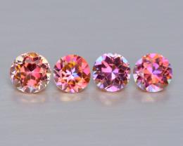 Mystic Topaz 0.50 Cts 4Pcs  Fancy Multi-Color Natural Gemstone