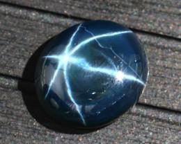Star Sapphire 17.97Ct Natural 6 Rays Blue Star Sapphire  E2122/A39