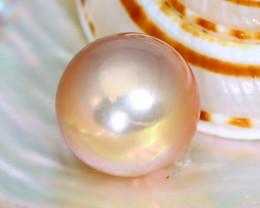 Pearl 12.0mm 11.80Ct Natural Australian South Sea Orange Pearl C1710