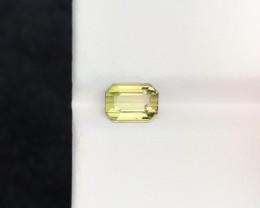 1.40 Ct Natural Yellowish Transparent Tourmaline Ring Size Gemstone