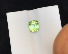 1.65 Ct Natural Green Transparent Tourmaline Ring Size Gemstone