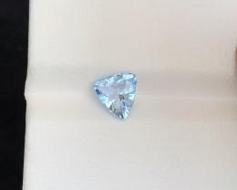 0.95 Ct Natural Blueish Transparent Aquamarine Gemstone
