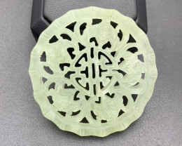 85.80 Cts Brilliant Hand Carving Jade.