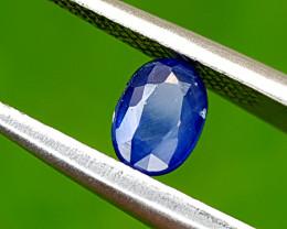 0.65CT BLUE SAPPHIRE HEAT BE BEST QUALITY GEMSTONE IIGC120