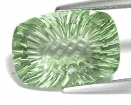 9.74Cts Stunning Natural Green Amethyst (prasiolite) Cushion Cut