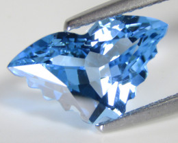 4.02Cts Wonderful  Natural Baby Swiss Blue Topaz Butterfly cut Loose Gem