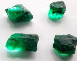 Rough Natural Emerald - Brazil - 4 Units - 43.50 ct