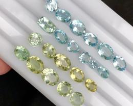 *NR*15.70(ct)Gorgeous Color Aquamarine & Helidor Parcel
