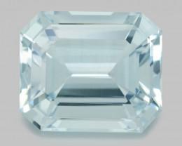 Flawless 38.68Ct Aquamarine Brilliant Asscher Cut Gemstone