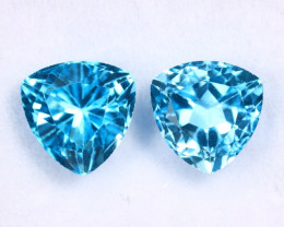 6.45cts Natural Swiss Blue Topaz Pairs/AMA2512