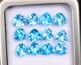 12.51cts Natural Swiss Blue Topaz Lots/MAZ2521