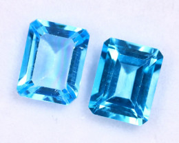 5.43cts Natural Swiss Blue Topaz Pairs /MAZ2527