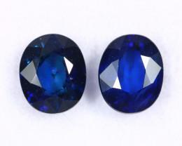 1.46cts Natural Dark Blue Sapphire Earring Pair /MAX2530
