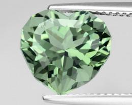 4.92Cts Stunning Natural Green Amethyst (prasiolite) Heart Custom Cut