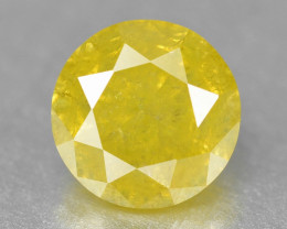 Diamond 0.36 Cts Untreated Sparkling Fancy Yellow Natural