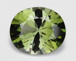 Green Tourmaline 1.96 Cts Unheated Millennium Cut Natural Gemstone